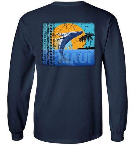 HI-50 TRIBAL MAUI PARADISE WHALE LONG/SHORT SLEEVE AND TANK-TOP