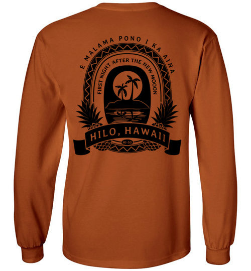 HI-50 HILO FIRST NIGHT AFTER THE NEW MOON LONG/SHORT SLEEVE AND TANK-TOP