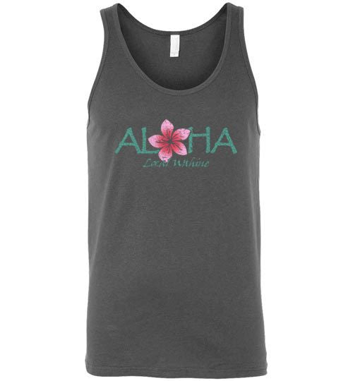 Bad Tuna T-shirt Co. LOCAL WAHINE ALOHA FLOWER TANK TOP local wahine
