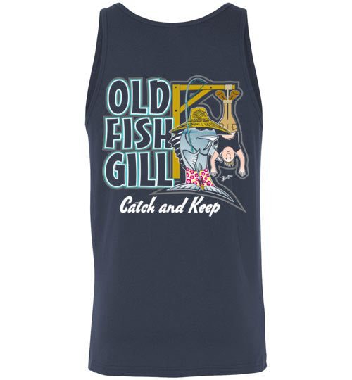 Bad Tuna T-shirt Co. OLD FISH GILL CATCH AND KEEP T-SHIRT AND TANK TOP badtuna