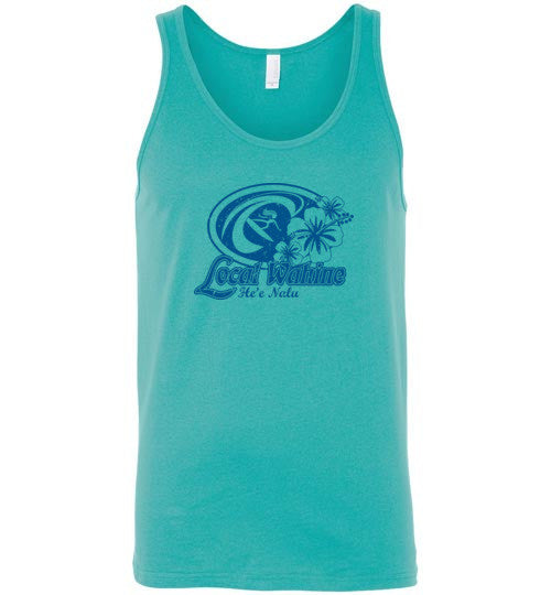 Bad Tuna T-shirt Co. HE'E NALU SURFER TANK TOP local wahine