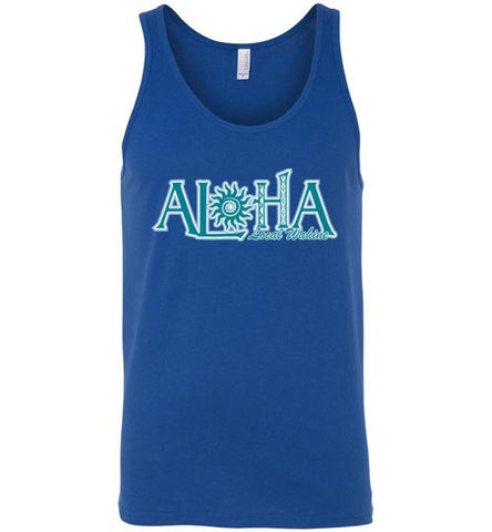 Bad Tuna T-shirt Co. ALOHA PUKANA LA TANK TOP local wahine