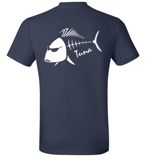 Bad Tuna T-shirt Co. CLASSIC WHITE BAD TUNA FISH LOGO TSHIRT badtuna