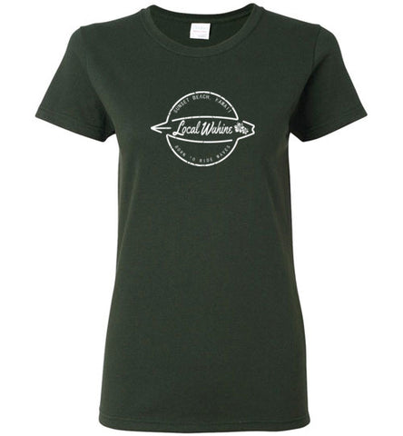 LOCAL WAHINE BORN TO RIDE T-SHIRT