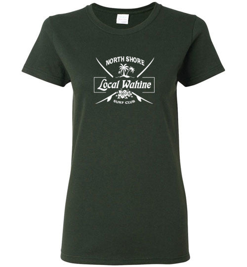 LOCAL WAHINE SURF CLUB LONG AND SHORT SLEEVE T-SHIRT
