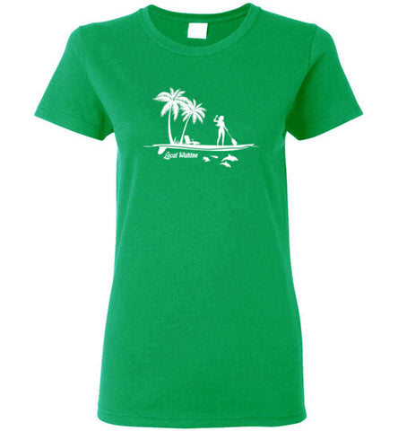 Bad Tuna T-shirt Co. LOCAL WAHINE SUP ISLAND T-SHIRT local wahine