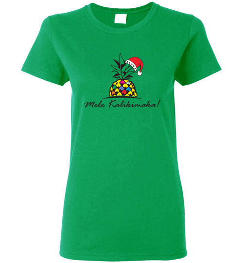 HI-50 MELE KALIKIMAKA PINEAPPLE TREE T-SHIRT