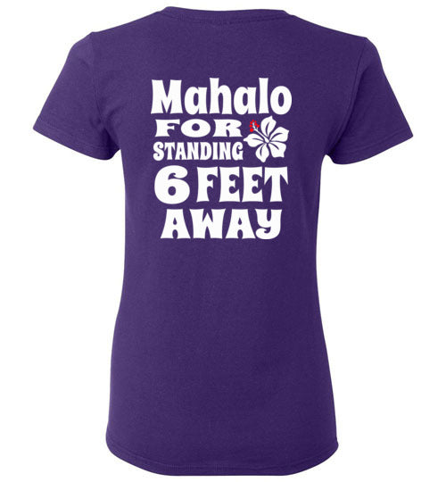 COVID 19 MAHALO AWARENESS, LOCAL WAHINE T-SHIRT