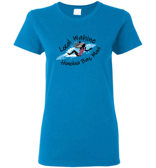 LOCAL WAHINE HONOLUA BAY SURFER T-SHIRT