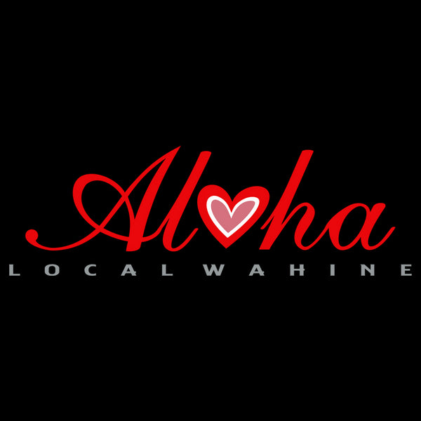 LOCAL WAHINE HEART OF ALOHA LONG SLEEVE T-SHIRT