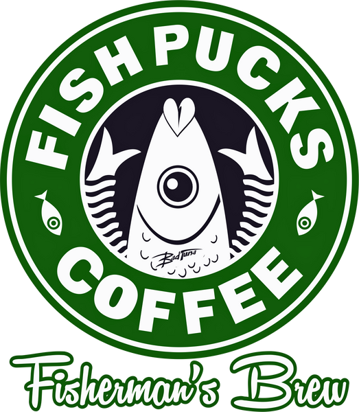 FISHPUCKS COFFEE FISHERMAN'S BREW LONG AND SHORT SLEEVE T-SHIRT