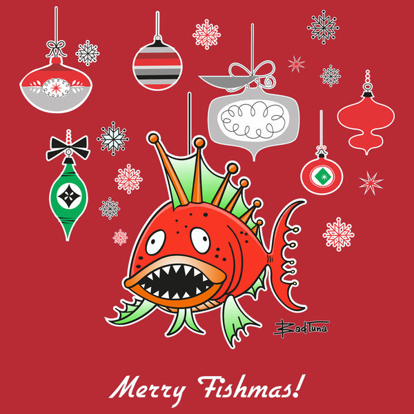 A MERRY FISHMAS LONG SLEEVE TEE