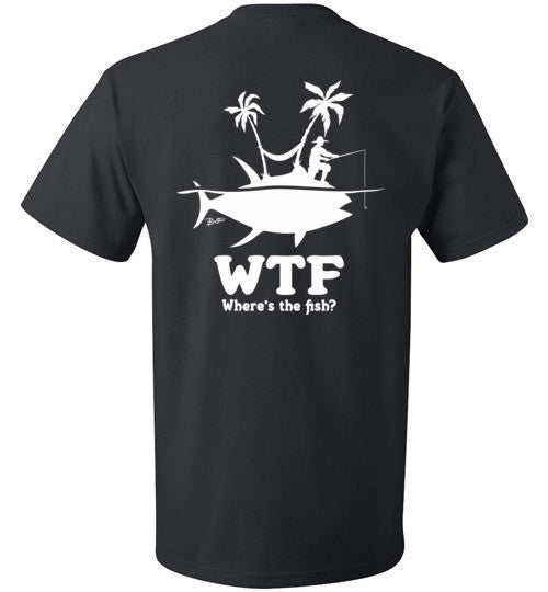 Bad Tuna T-shirt Co. WHERE'S THE FISH FISHERMAN T-SHIRT badtuna
