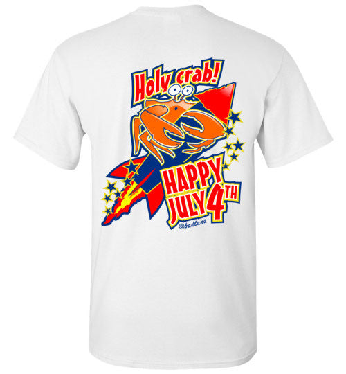 Bad Tuna T-shirt Co. HAPPY JULY 4TH HOLY CRAB T-SHIRT badtuna