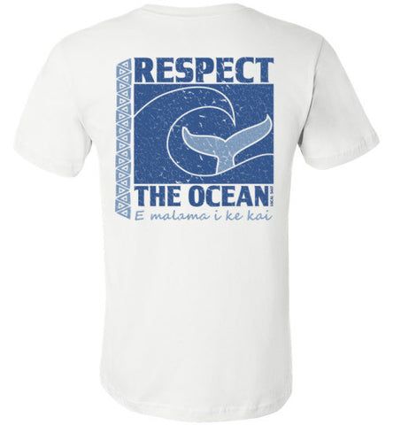 Bad Tuna T-shirt Co. RESPECT THE OCEAN T-SHIRT Canvas Uni Sex Tee hi-50 local salt