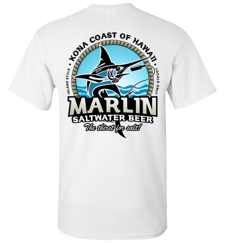 MARLIN SALTWATER BEER - THE THIRST FOR SALT T-SHIRT