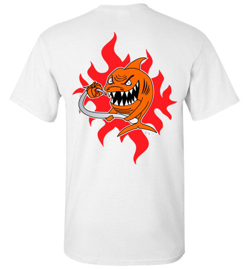 Bad Tuna T-shirt Co. THE ORANGE PUMPKIN SHARK T-SHIRT badtuna