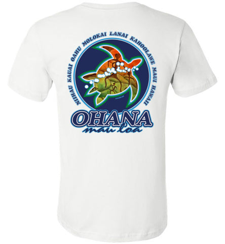Bad Tuna T-shirt Co. OHANA MAU LOA HONU T-SHIRT hi-50 local salt