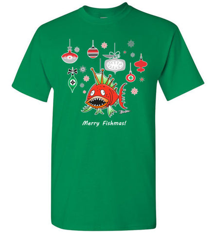 Bad Tuna T-shirt Co. A MERRY FISHMAS T-SHIRT badtuna
