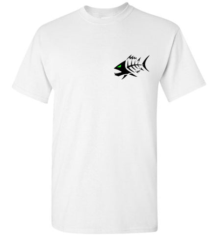 BAD TUNA LOGO BLACK ON LIGHT TEE
