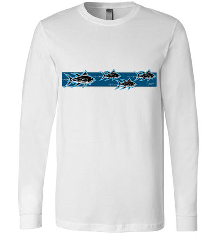 Bad Tuna T-shirt Co. MAD AHI FISH LONG SLEEVE T-SHIRT canvas long sleeve badtuna