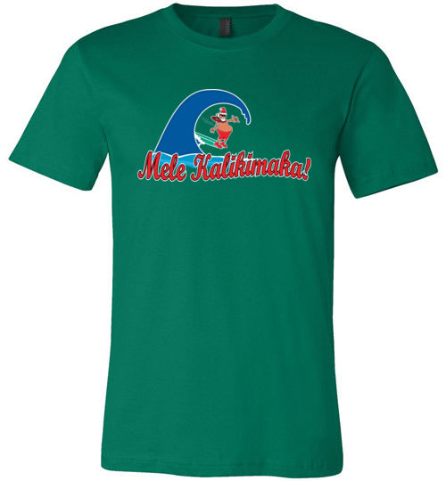 Bad Tuna T-shirt Co. SANTA SURFING ON MELE KALIKIMAKA DAY T-SHIRT hi-50 local salt