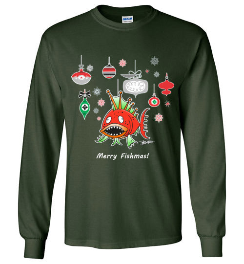 Bad Tuna T-shirt Co. A MERRY FISHMAS LONG SLEEVE TEE badtuna