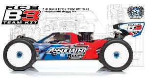Team Assocoiated RC8 B3, 1:8 Scale Nitro 4WD Off Road Competition Buggy Kit ASC80914