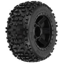 "Pro-Line Badlands 3.8"" (Traxxas Style Bead) All Terrain Tires 1178-11"