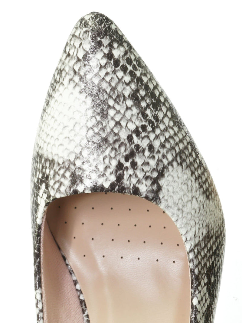 Snake Grey / Sanzi2 Low Stiletto Heel Pumps - Slip On Dress Shoes Solid Or Animal Prints