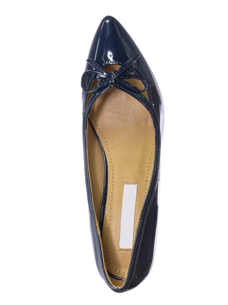 Navy Blue / Sanzi7 Classic Stiletto High Heel Dress Pump - Womens Cut Out Pointed Toe Shoe