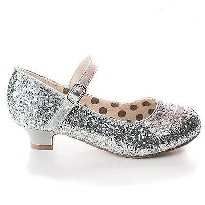 Quincy By Styluxe, Children Girls Rock Glitter Mary Jane Low Heel Pumps