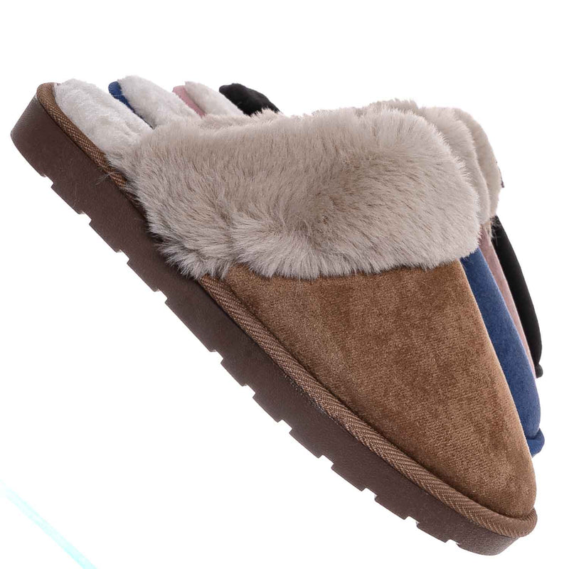 Snuggle01 Winter Cozy House Slipper - Vegan Friendly Faux Fur Slip On Mule