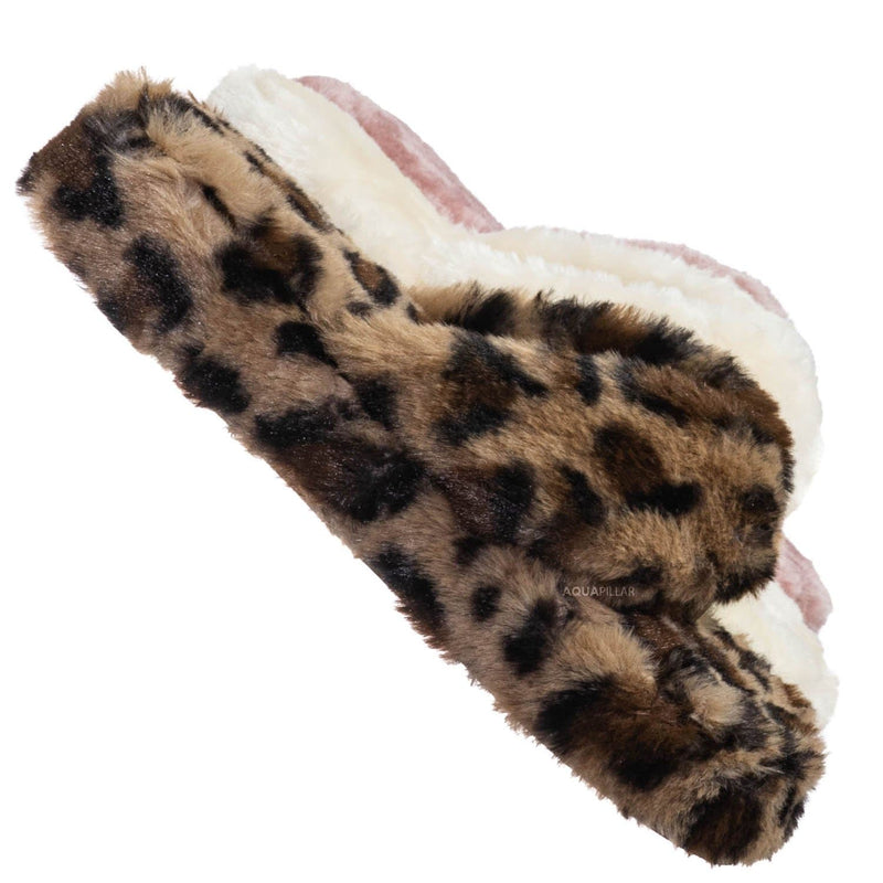 Warmness05 Fluffy Faux Rabbit Fur Sandal - Flatform Thong Flip Flop Slipper