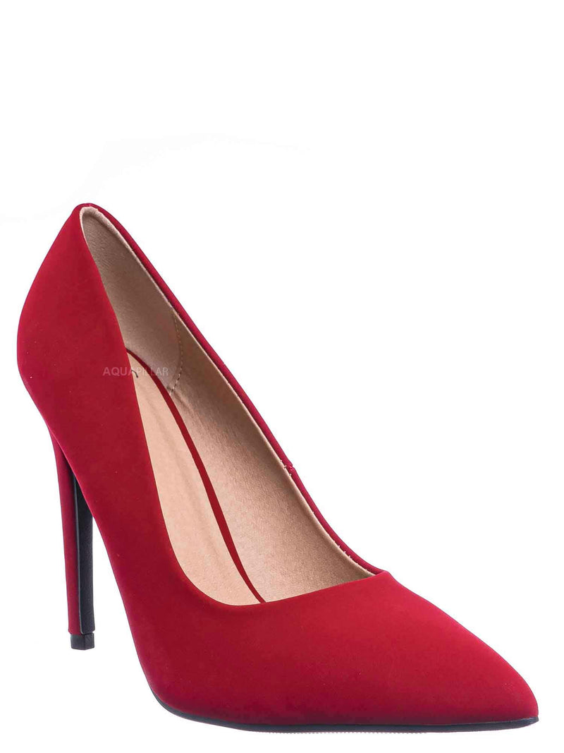 Lipstick Red / Cindy Classic Pointed Toe Dress Pump - Womens High Heel Stiletto Formal Shoes