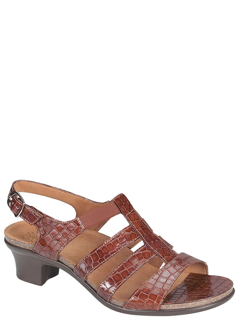 SAS Shoes - Allegro Block Heel Cage Strap Sandal - Womens Gladiator Open Toe Slingback Shoe
