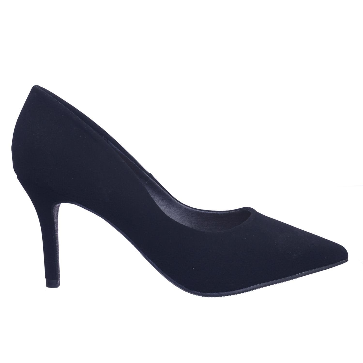Libby BlkNbpu Extra Comfortable Foam Padded Cushion Pointed Toe High Heel Dress Pump