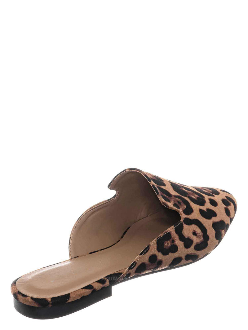Leopard / Sweep10 Backless Slip On Mule - Minimalistic Slippers