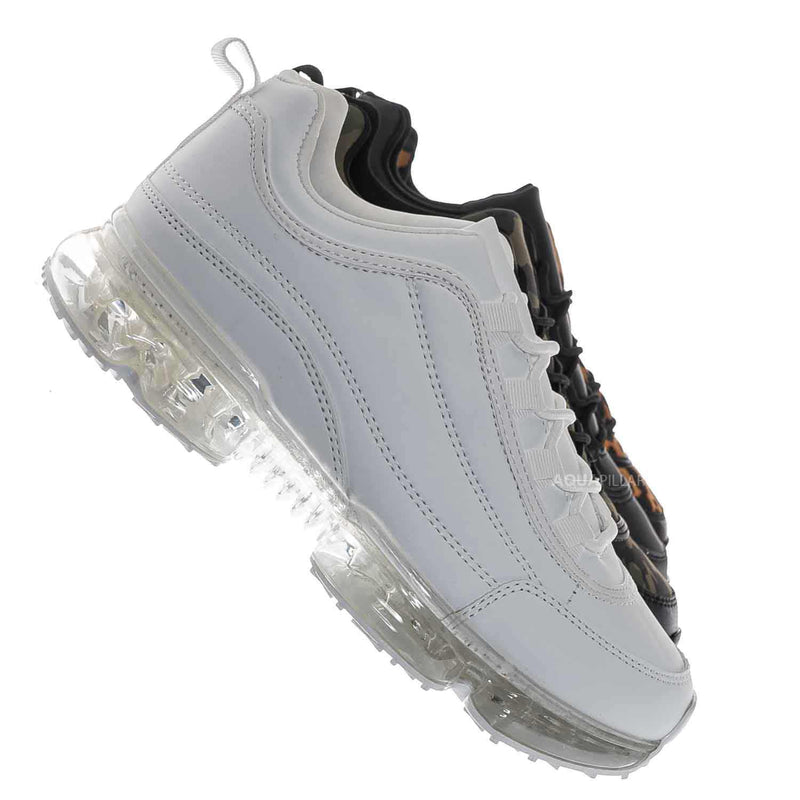 Flow29 Chunky Translucent Clear Bottom Sneakers