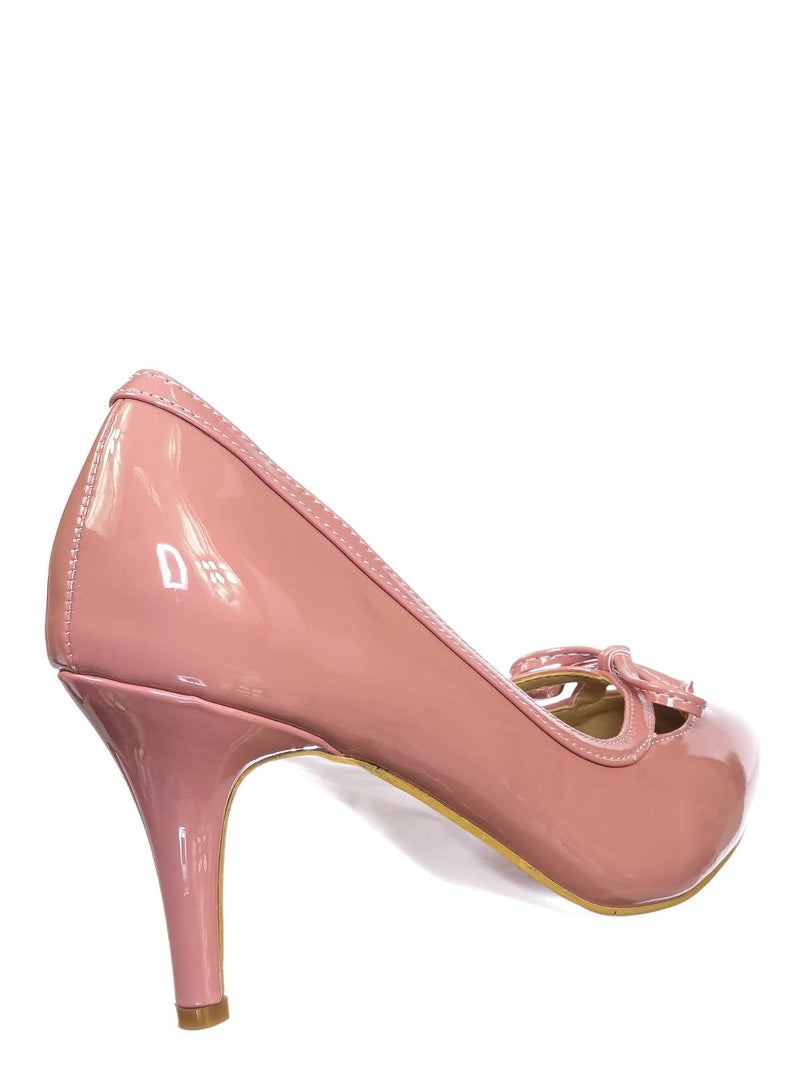 Pink Mauve / Sanzi7 Classic Stiletto High Heel Dress Pump - Womens Cut Out Pointed Toe Shoe