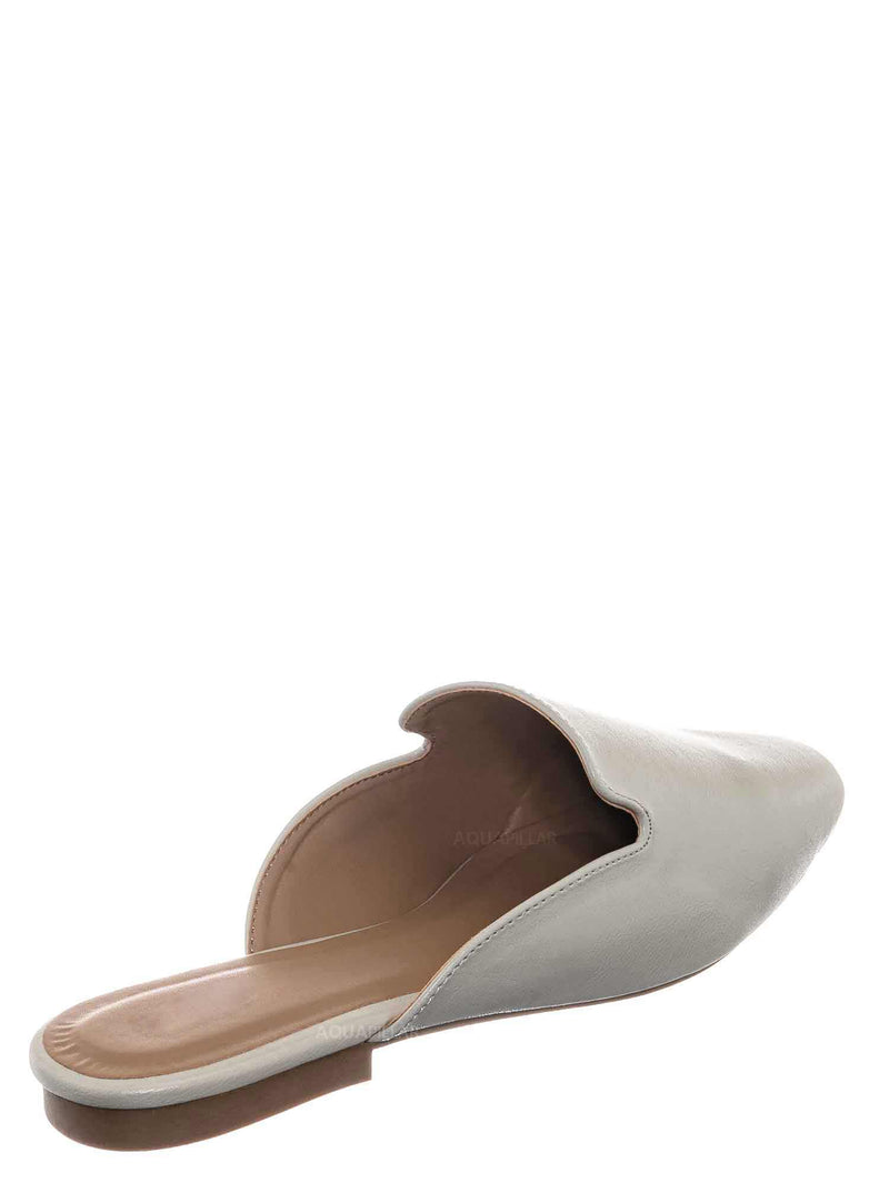Ivory White / Sweep10 Backless Slip On Mule - Minimalistic Slippers