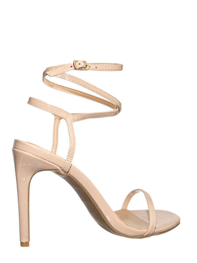 Nude Beige / Timeless43 Thin Ankle Strap Stiletto Sandal - Women Criss Cross High  Heel Shoes