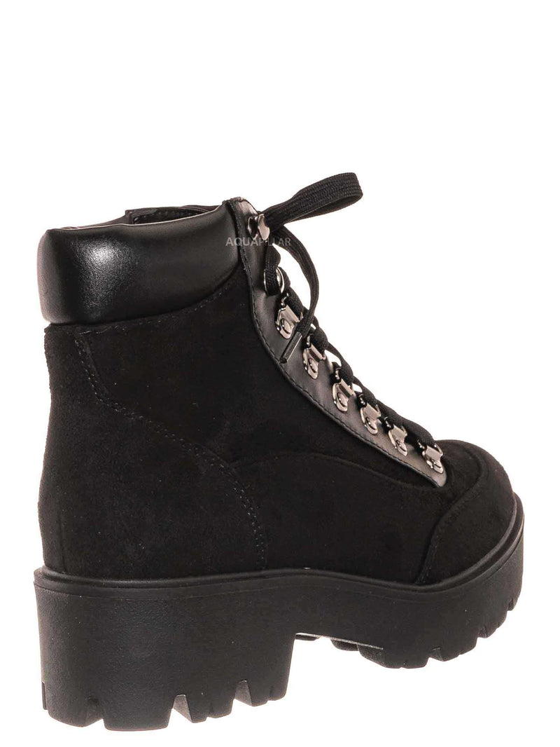 Black / Attic Lightweight Combat Boots w Padded Collar