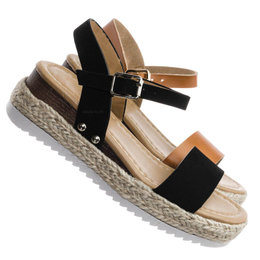 Sensational8K Kids Espadrille Flatform Sandal - Kid Open Toe Platforms