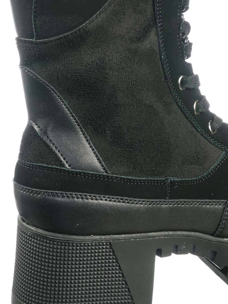 Black Multi / Soldier01 Black Multi Laced Up Combat Ankle High Boots - Womens Military Flatform Shoes