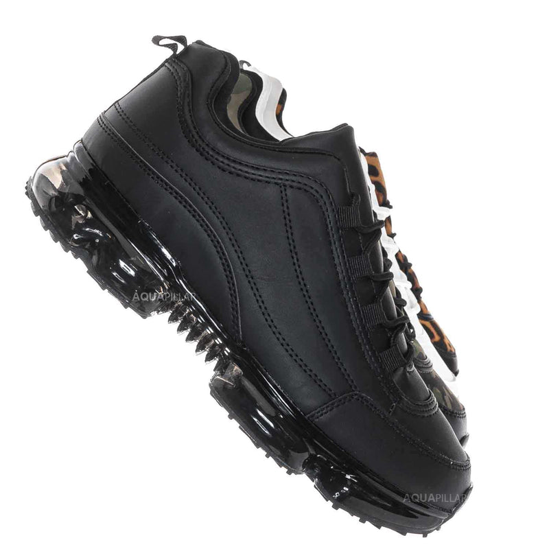 Black / Flow29 Chunky Translucent Clear Bottom Sneakers
