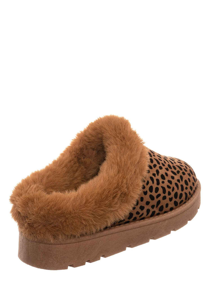 Leopard / Frozen31 Faux Fur Moccasin Slipper - Winter Fluffy Cozy Bootie