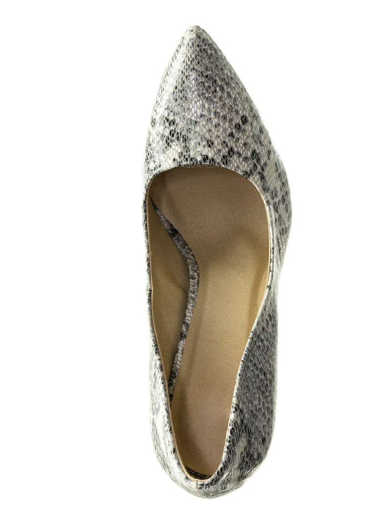 Beige Python / Cindy Classic Pointed Toe Dress Pump - Womens High Heel Stiletto Formal Shoes