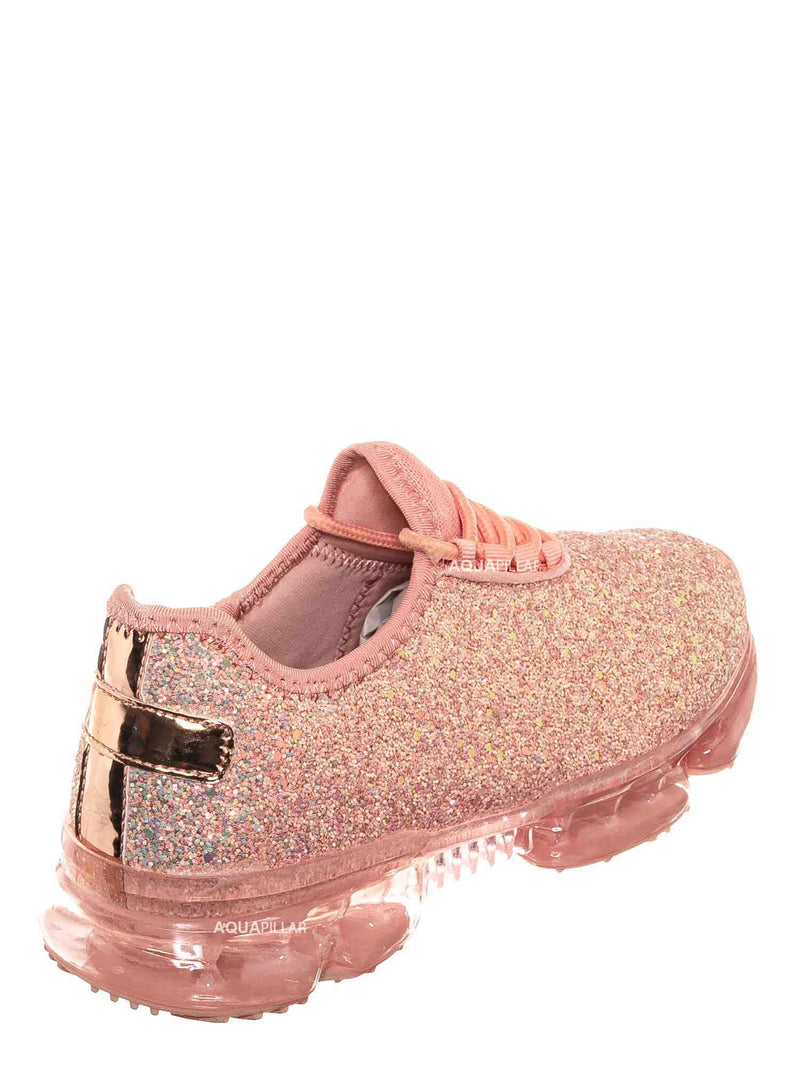 Dusty Rose / Flow28 Glitter Sneaker w Lucite Clear Outsole