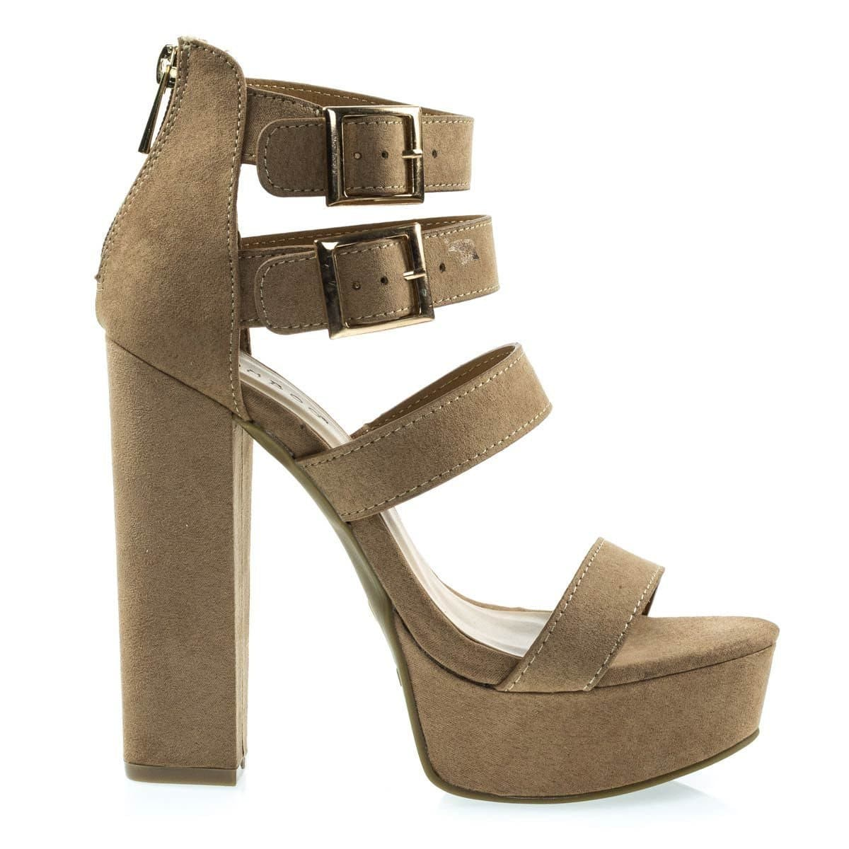 Tournament31 Chunky Block Heel Gladiator Open Toe Sandal On Platform